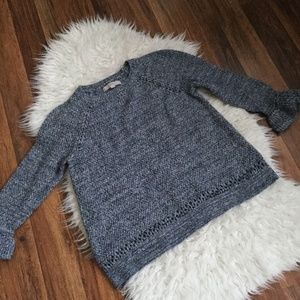 LOFT  CROCHET LONG SLEEVE  SZ L